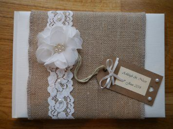 Personalised Wedding Guest Book, Vintage, Shabby Chic: Amazon.co.uk: Office Products