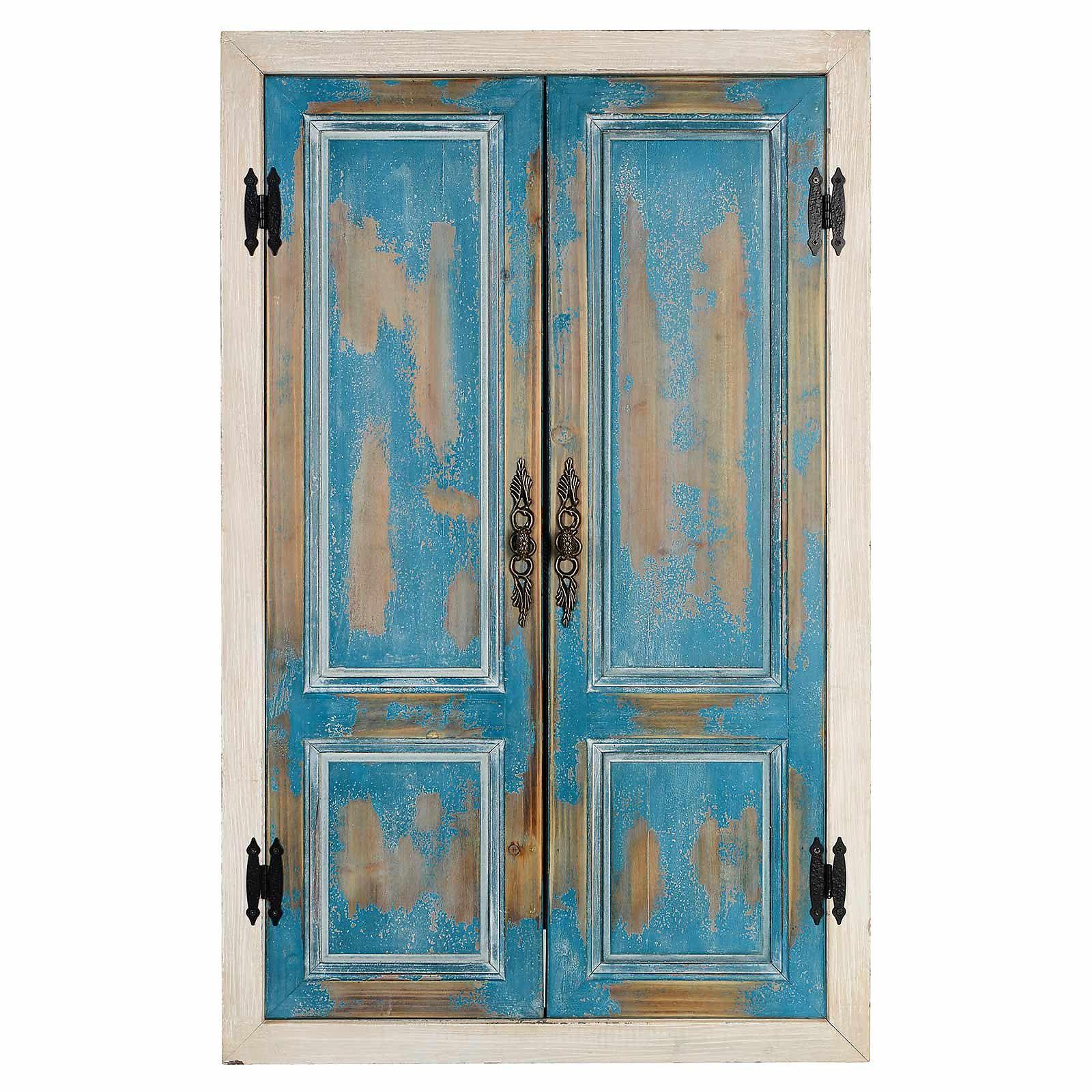 Wanddeko Spiegel wanddeko spiegel aus mischholz blau deko deco