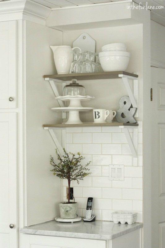 Shelf Love! I have a few Ikea shelves like this that don't