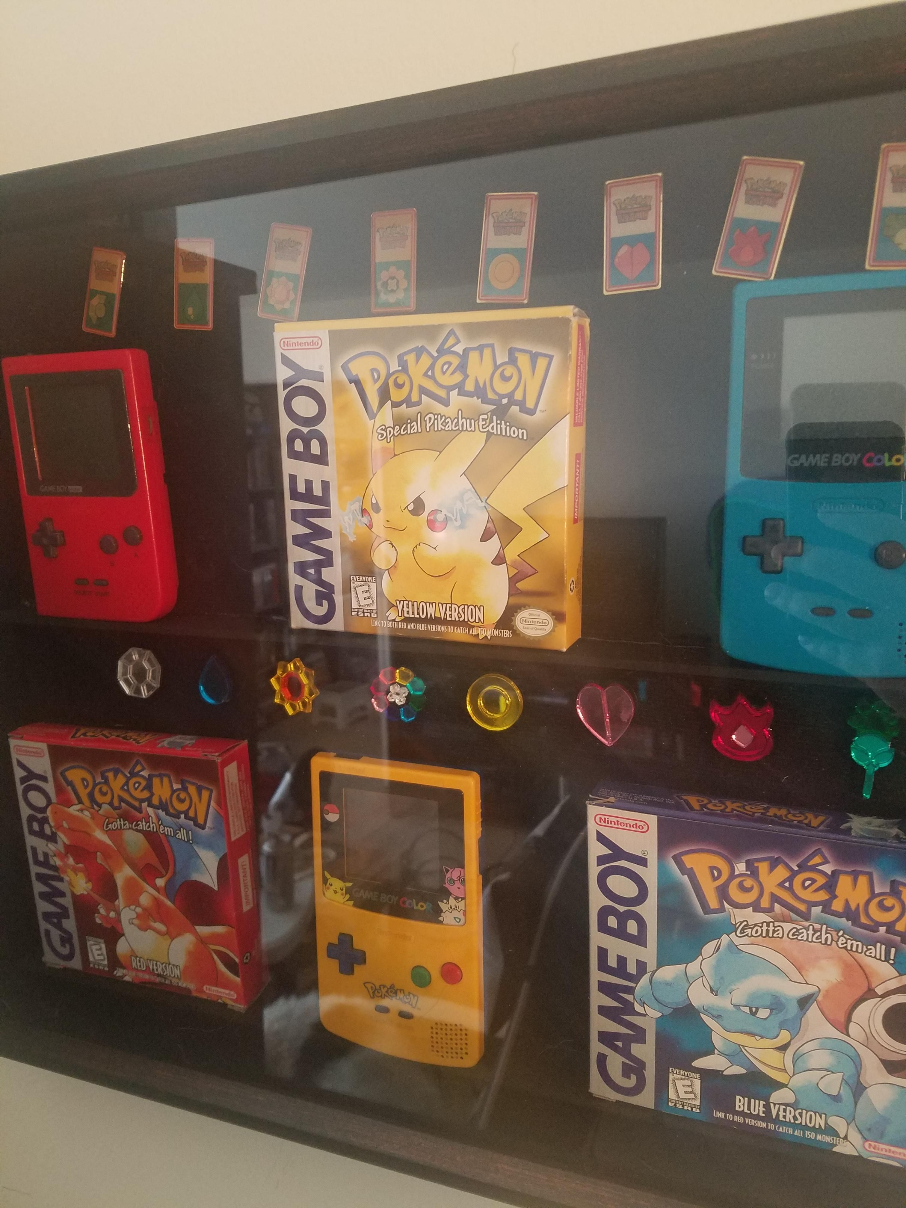 Finally made our shadowbox pokemon shadow box crafts