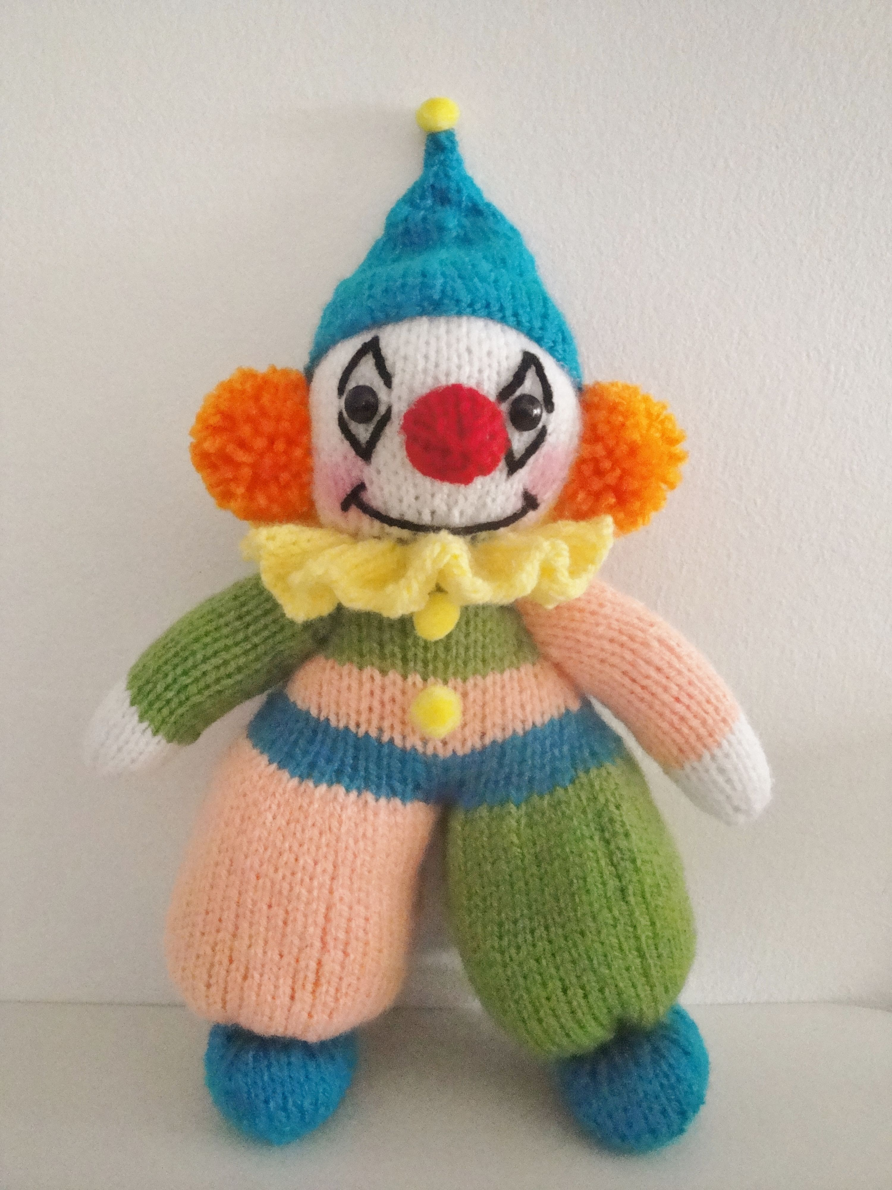 Scrappy the Clown | My Knit Toy Patterns | Pinterest | Knitted toys ...