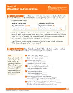 Lesson 17 Denotation And Connotation Teacher Toolbox 7th