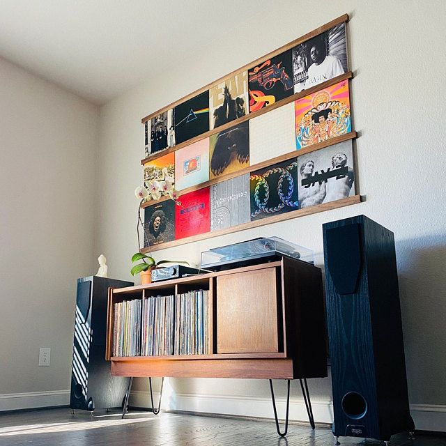 Vinyl Record Storage Shelf Wall Mounted Record Holder Record Ledge Lp Display Record Display Wall Record Frame Album Storage In 2020 Vinyl Record Storage Shelf Vinyl Record Storage Record Storage