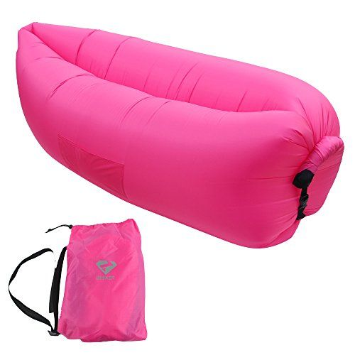 Sofa Mart iZEEKER Inflatable Lounger Air Filled Balloon Furniture Outdoor or Indoor Air Sleeping Sofa Old Models Red Remarkable product available now