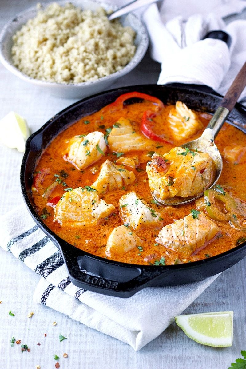 Easy 20-Minutes Fish Stew #seafooddishes