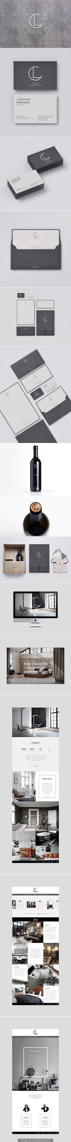 Combination Mark Typography Graphicdesign Webdesign Ledbury Construction Graphic Design Branding Business Design Graphic Design Logo