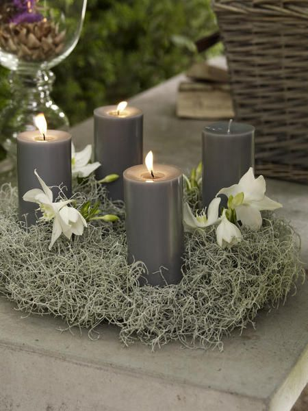 adventskranz basteln xmas advent wreath candles. Black Bedroom Furniture Sets. Home Design Ideas