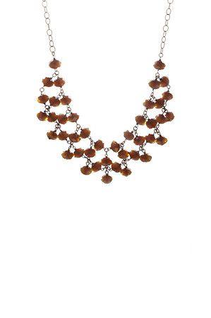 The Carnelian Crystal Bib Necklace by Harlow Jewelry from MFredric.com