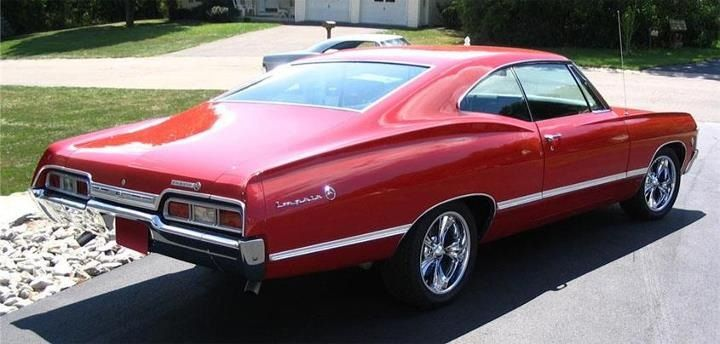 67 Impala Had One Just Like This Red Black Interior Just A Stock 283 Powerglide 2 Speed Cool Old Car Would Chevy Muscle Cars Cool Old Cars Classic Cars Chevy