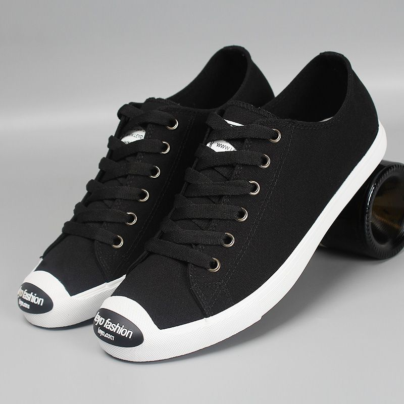 Black Canvas With Black Rubber Patch on Toe