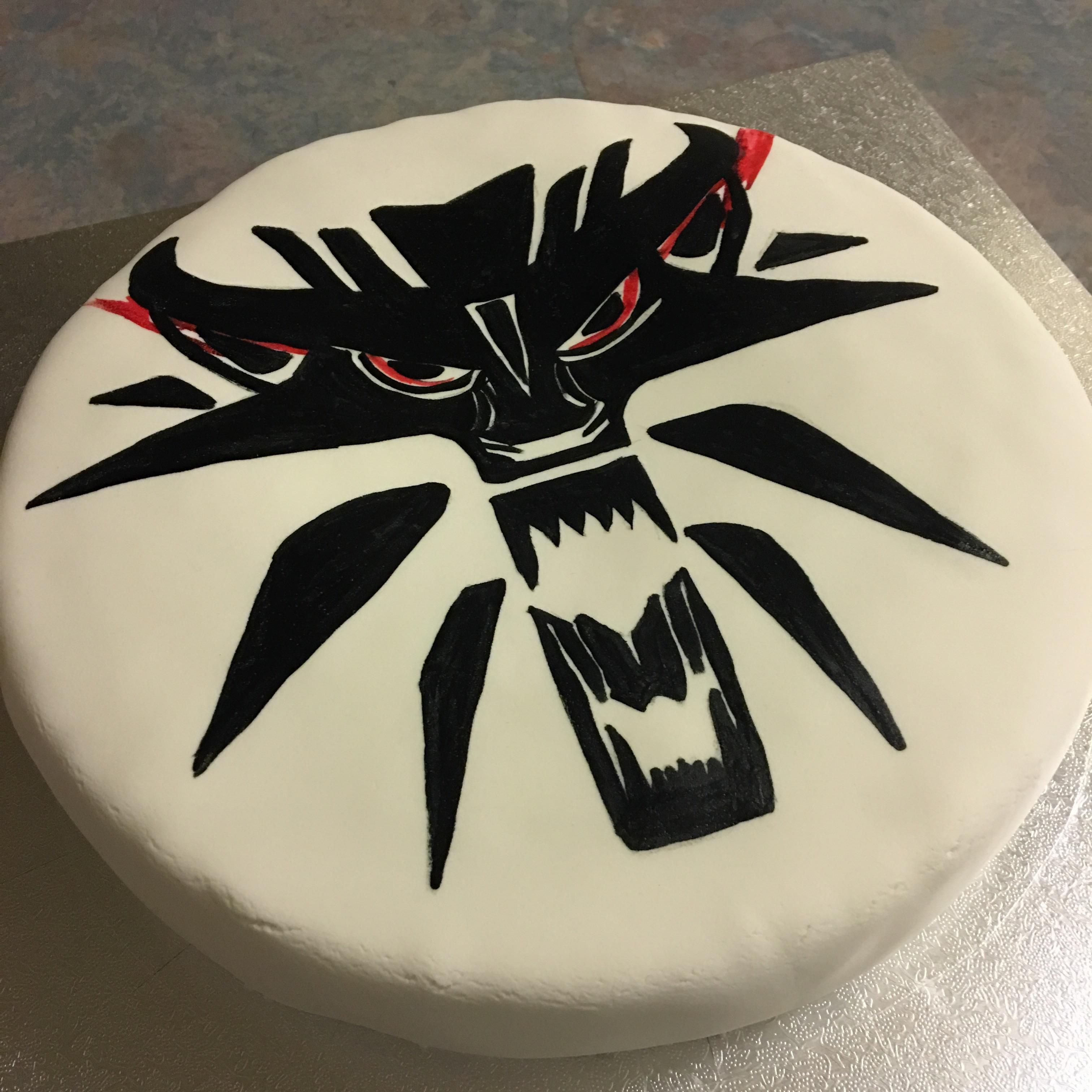 Birthday Cake My Fianc Made For My 25th Today Thewitcher3 Ps4