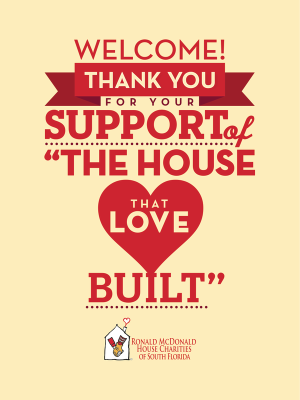 ronald mcdonald house charities thank you poster design by arlene