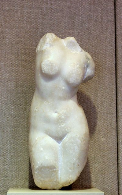 Marble, Ptolemaic-Early Roman period, 2nd-1st c. BCE TORSO OF APHRODITE Karanis, Egypt - University of Michigan excavations, 1924-1935. Kelsey Museum of Archaeology, KM 10726 Ann Arbor, Michigan
