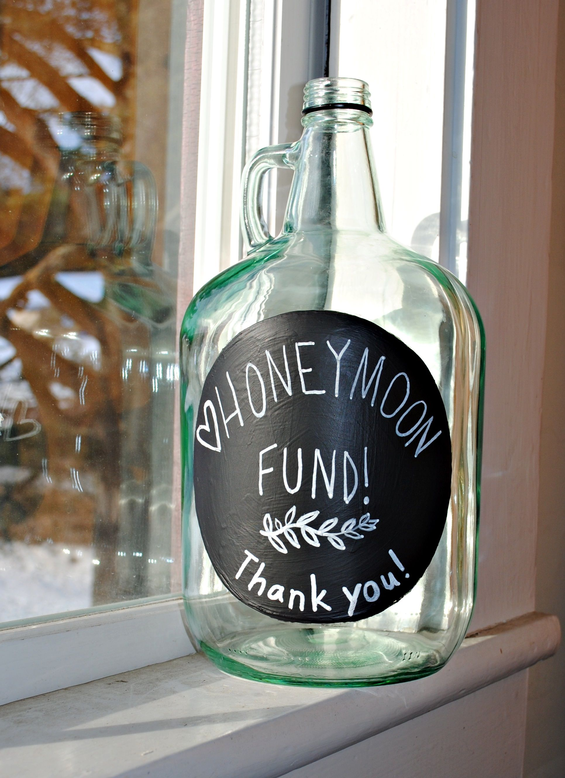 Honeymoon Fund Jar To Place Near The Drinks During The Reception Honeymoon Fund Jar Honeymoon Fund Honeymoon Jar