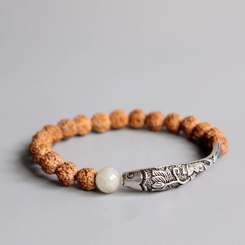 bracelet perles graines naturelles