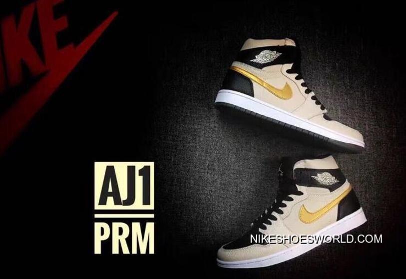 Air Jordan 1 High PRM Pearl White Metallic Gold