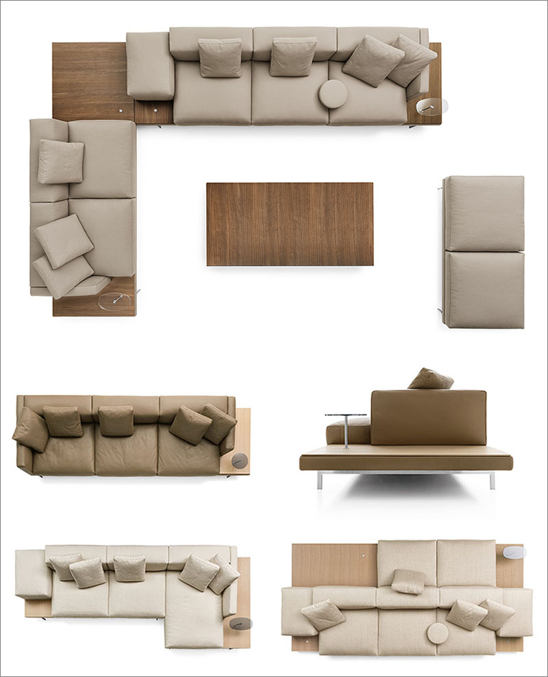 B B Italia Introduces The New Dock Seating System By Piero Lissoni Living Room Sofa Design Sofa Design L Shaped Sofa