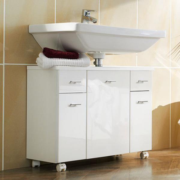 Spectacular Badezimmer Midischrank in Hochglanz Wei cm breit Jetzt bestellen unter https moebel ladendirekt de bad badmoebel badezimmerschraenke uid udd u