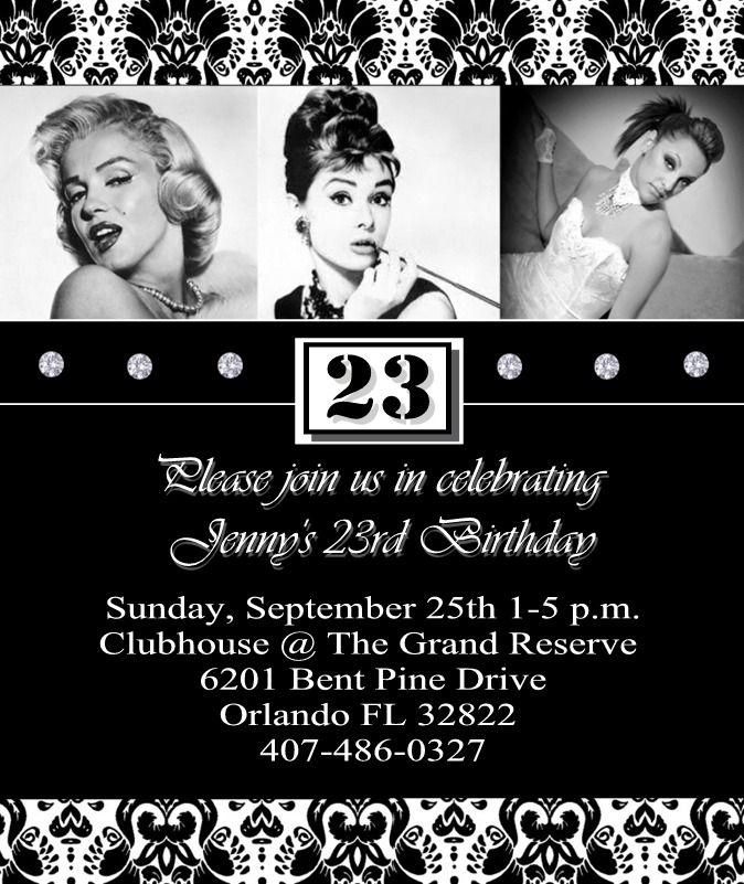 Marilyn Monroe / Audrey Hepburn Birthday Party Ideas | Hollywood ...