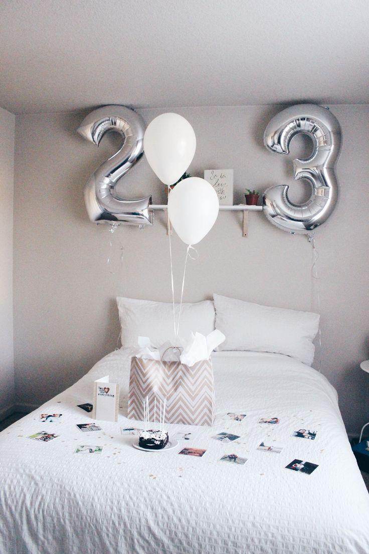 Bedroom birthday surprises