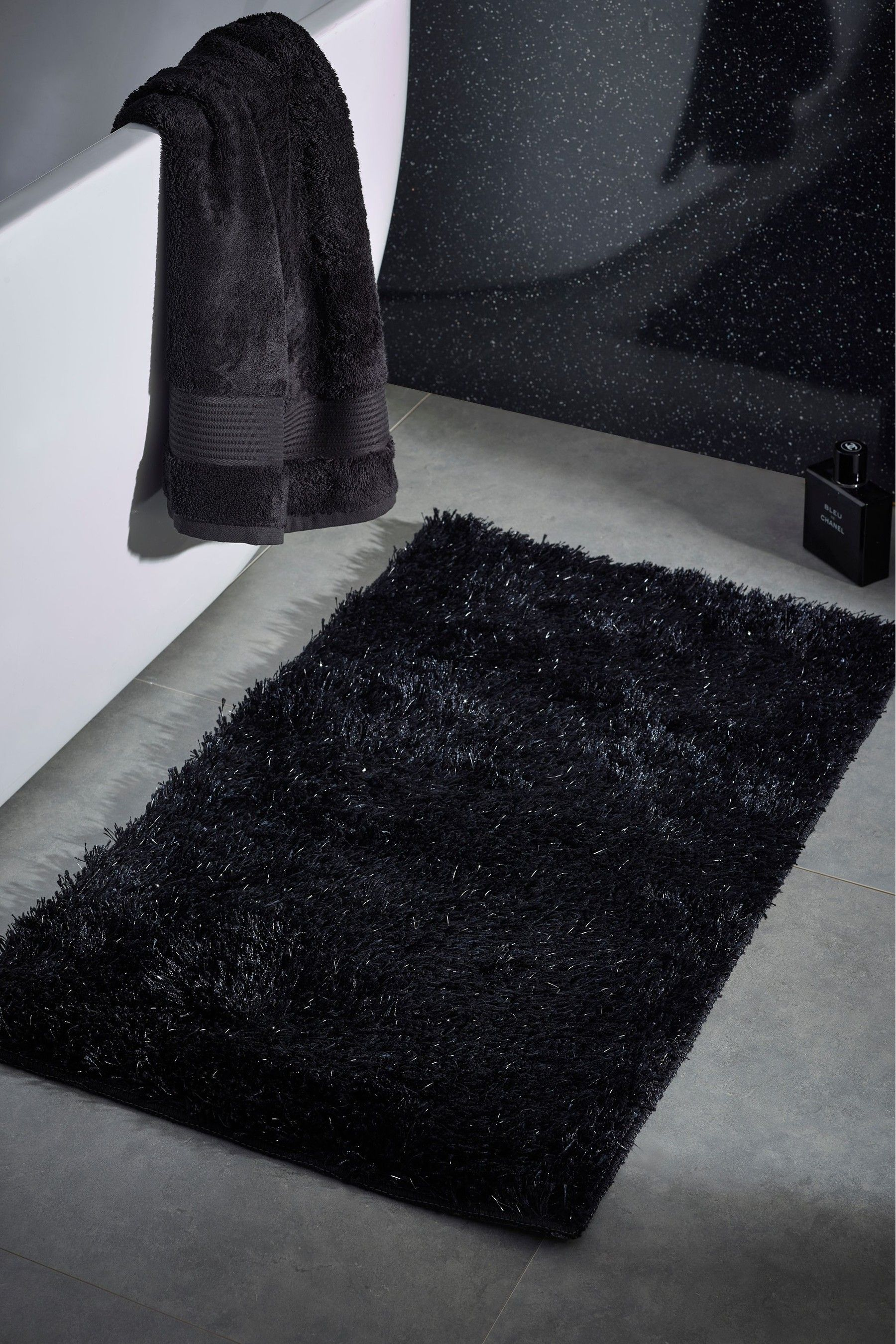Next Sparkle Bath Mat Grey Bath Mat Bath Grey Bath Mat