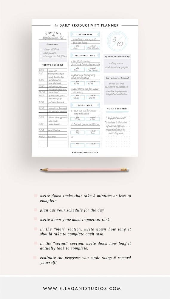 productivity planner project planner printable planner Planning my