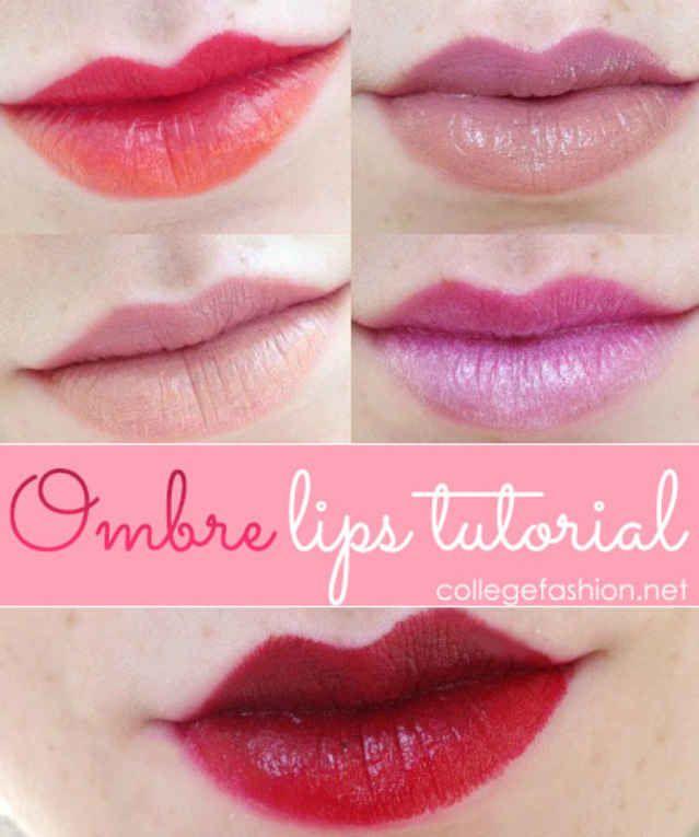 Ombre Lips, Lip Tutorial, Ombre Lips