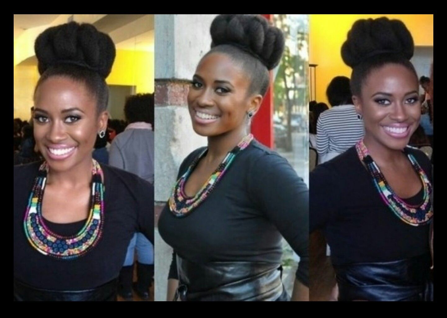 So pretty   Hairstyles To Try On My Natural Black Hair