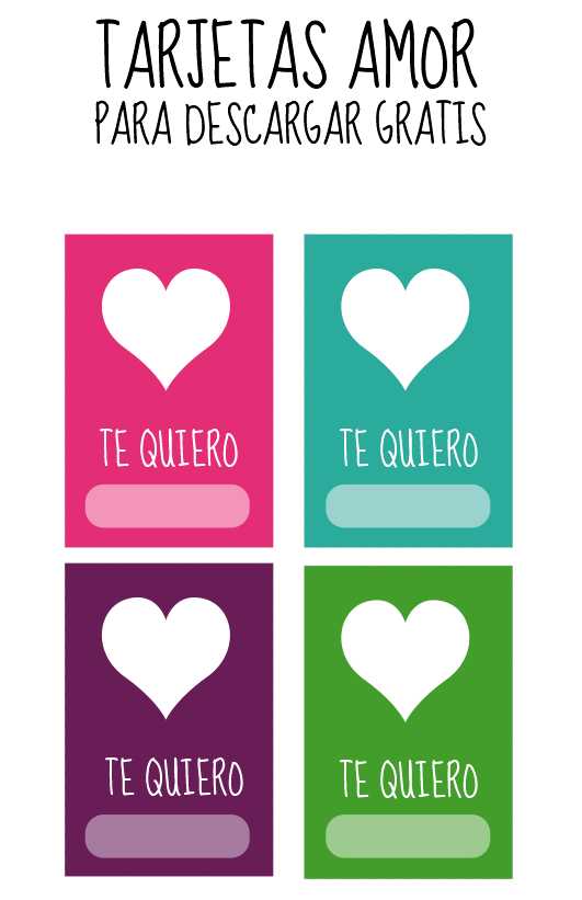 Tarjetas De Amor Para Imprimir Fiestas San Valentin
