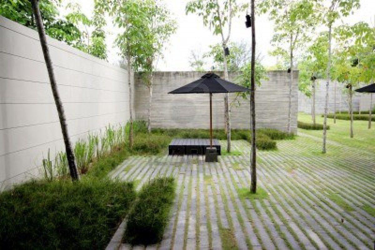 Stock Photo Japanese Garden Design Minimalist Garden 400 x 300