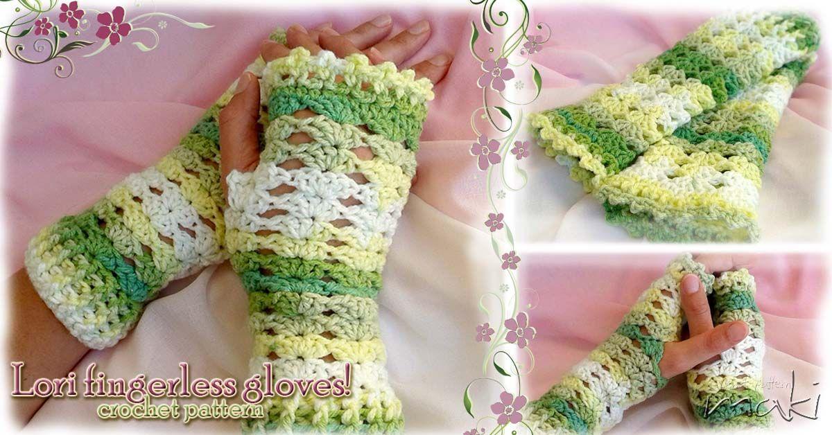 FREE CROCHET PATTERN: LORI fingerless gloves - Maki Crochet Patterns ...