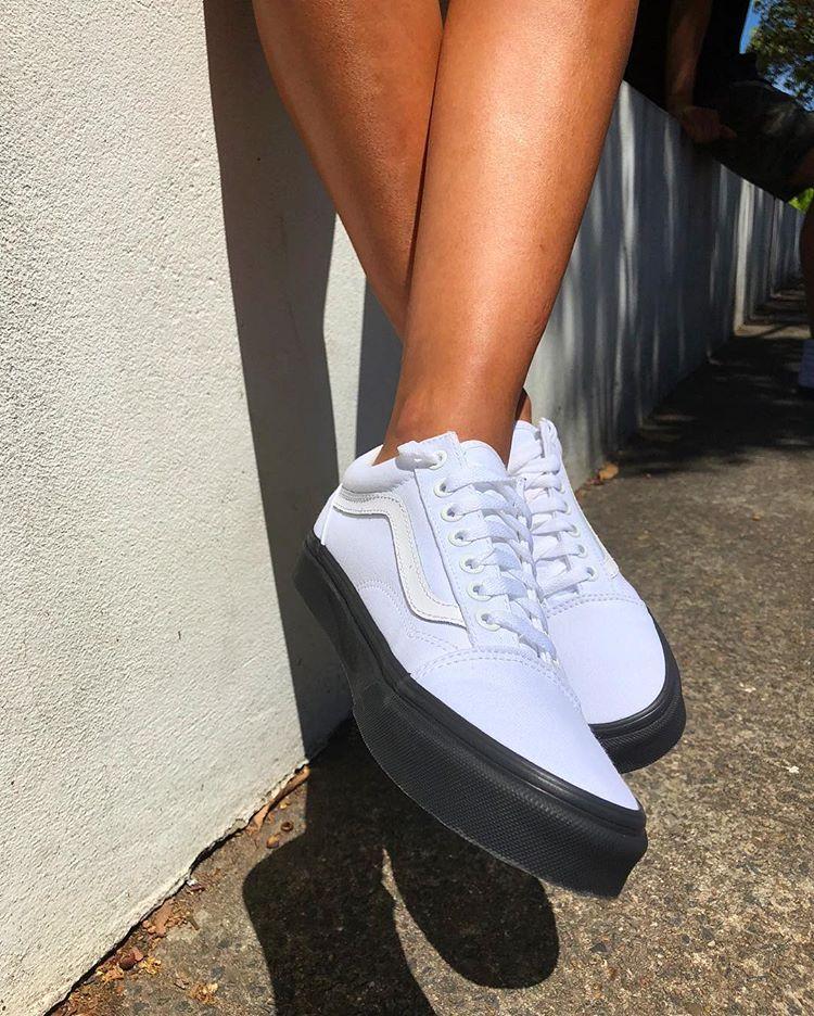 Black adidas shoes, Vans