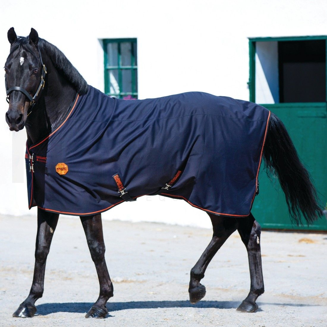 Horseware Rambo Ionic Therapy Fleece Rug Black Orange