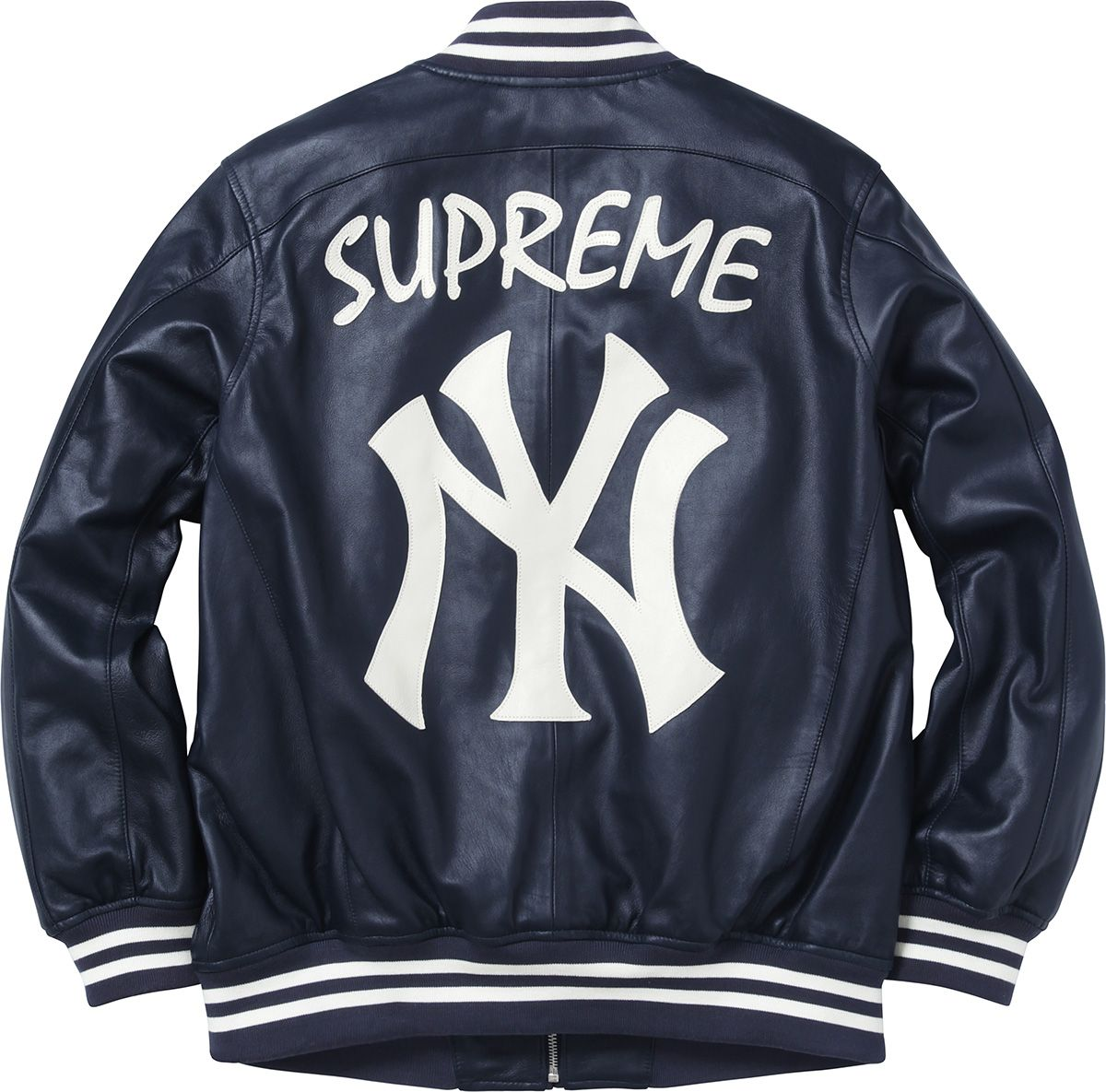 Supreme Yankees® Supreme  47 Brand® Leather Varsity Jacket  8dc9b82d7bff