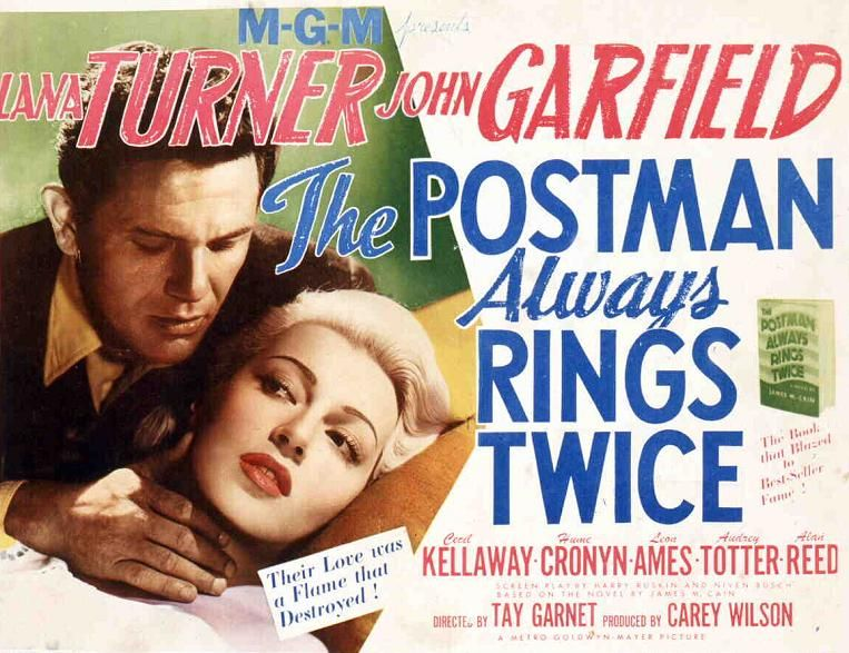 THE POSTMAN ALWAYS RINGS TWICE Movie POSTER 14x36 Insert Lana Turner John