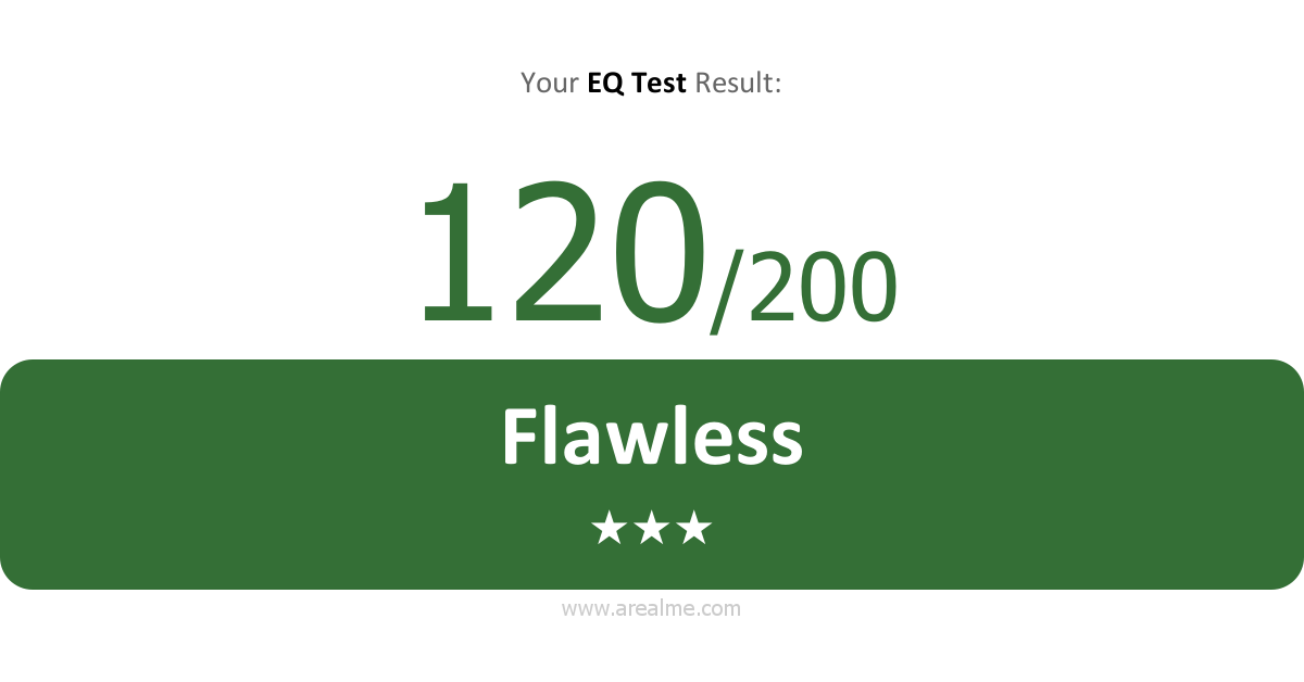 I've got 120 in the EQ test! What about you? | Personality