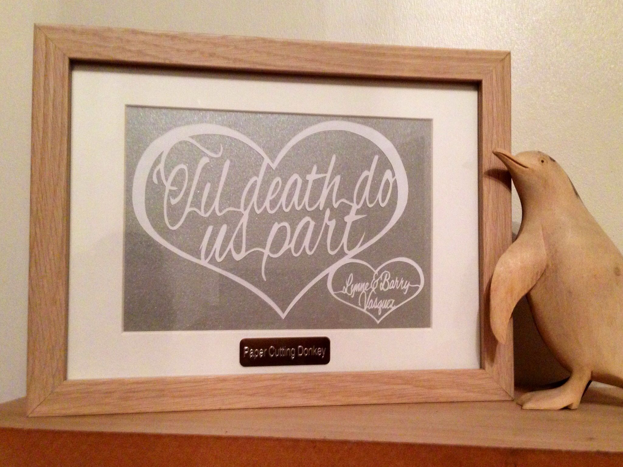 Silver wedding anniversary papercut by facebook