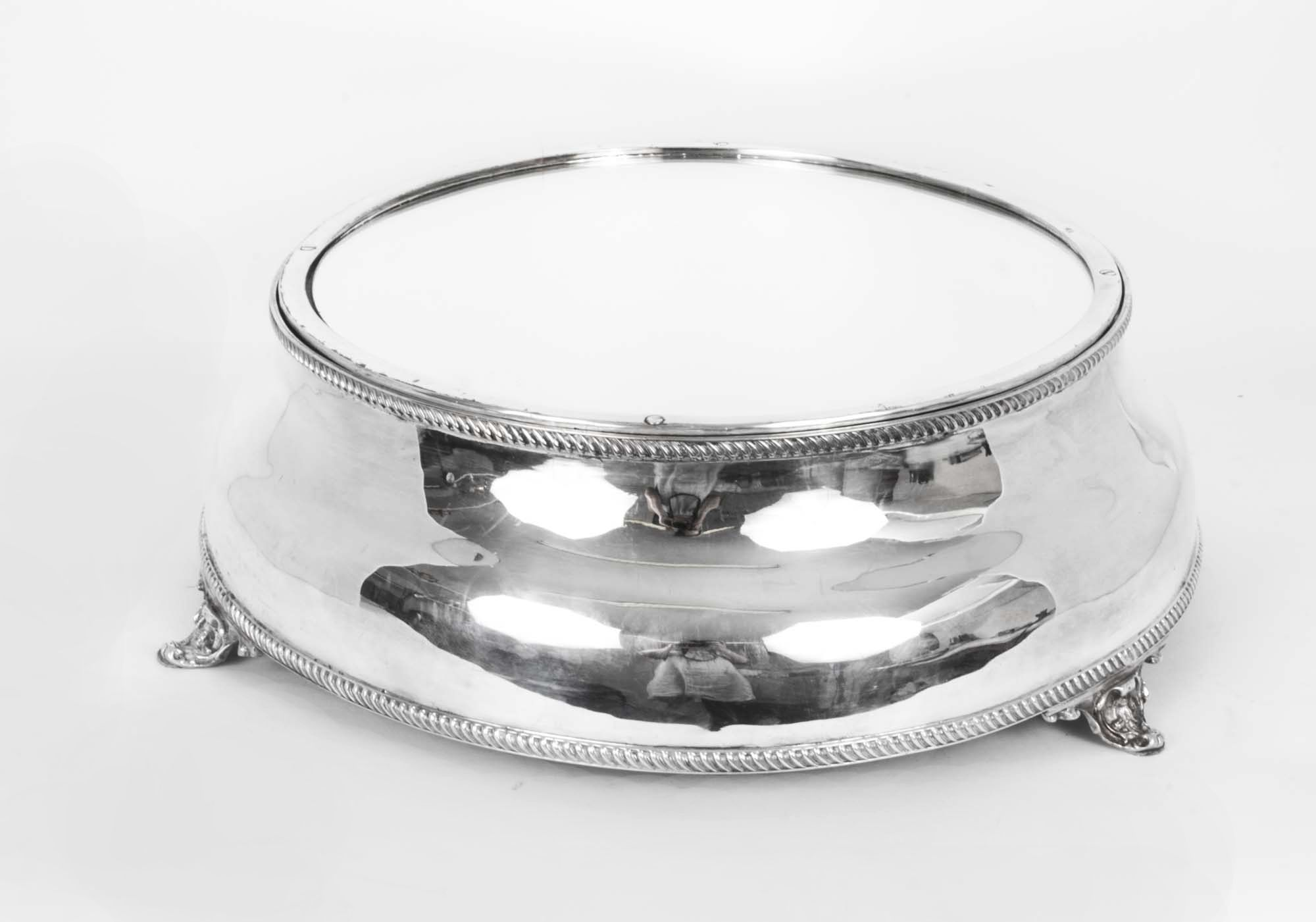 Silver and silver plate - Silver plate - Antique English Silver Plated Cake Stand & An antique English silver-plated cake stand circa 1860. | Silver ...