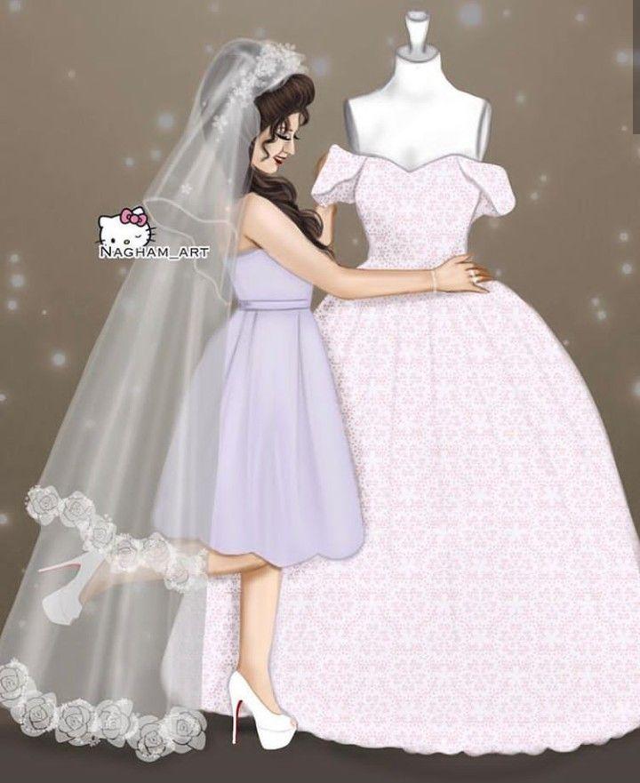 Pin By ن ج م ه On Art Wedding Dress Illustrations Dress Illustration Fashion Art Prints
