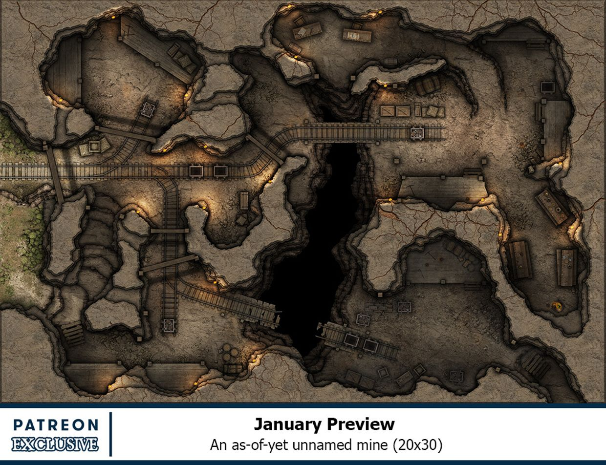 photo relating to Redbrand Hideout Map Printable titled Dnd Mine Dungeon Map