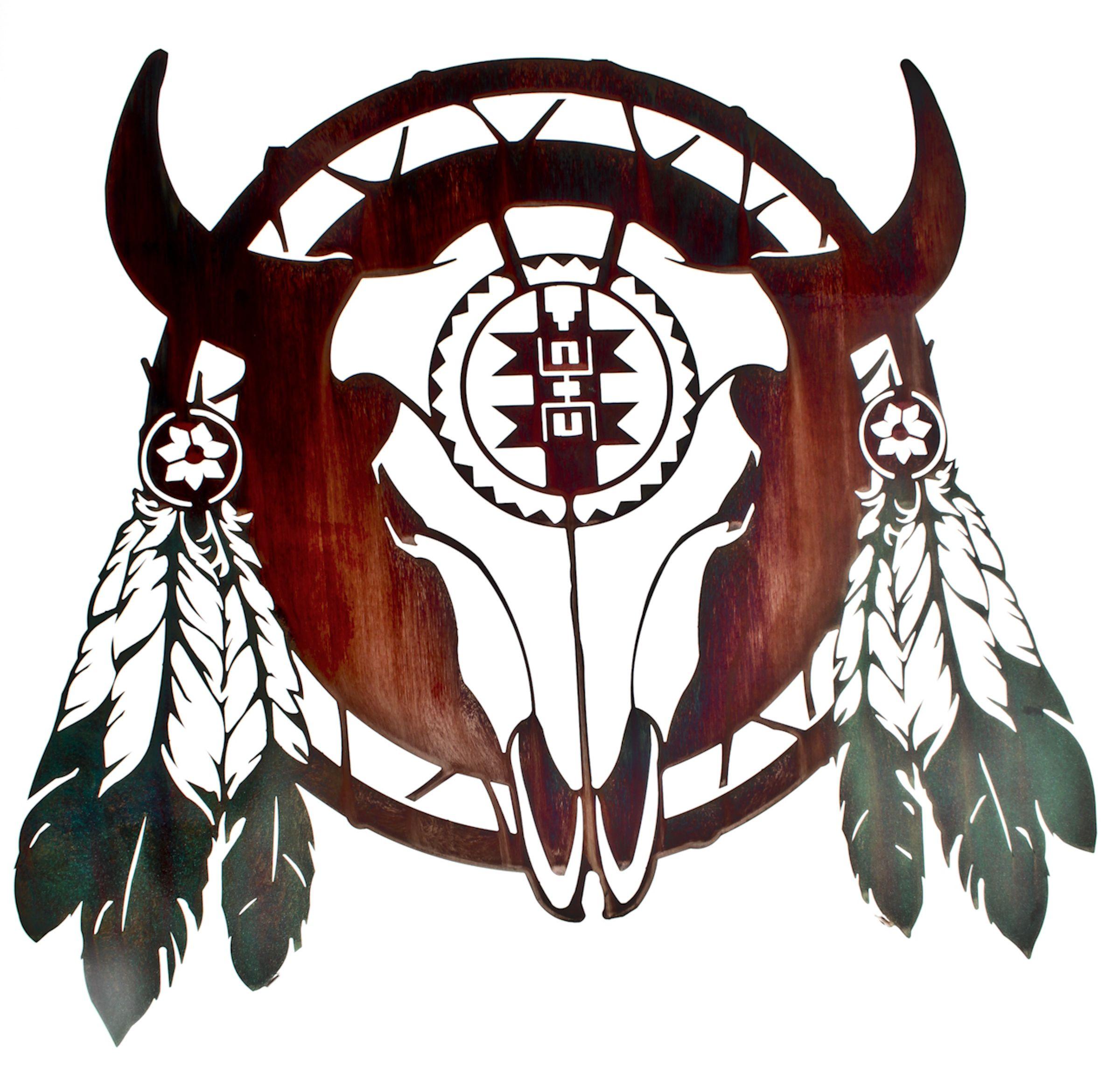 Buffalo Skull Wall Art Buffalo