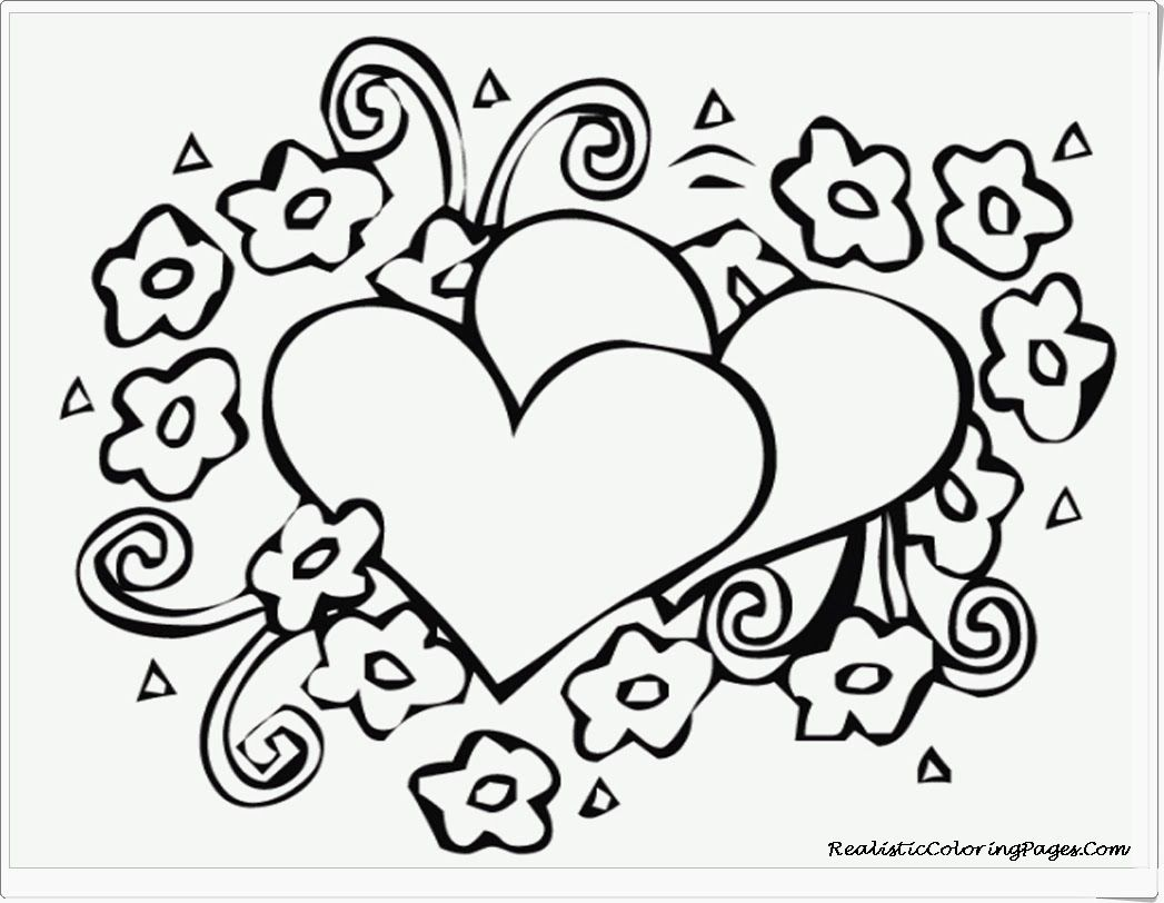 valentines hearts free printable coloring pages zentangle blank - Print Colouring Pages