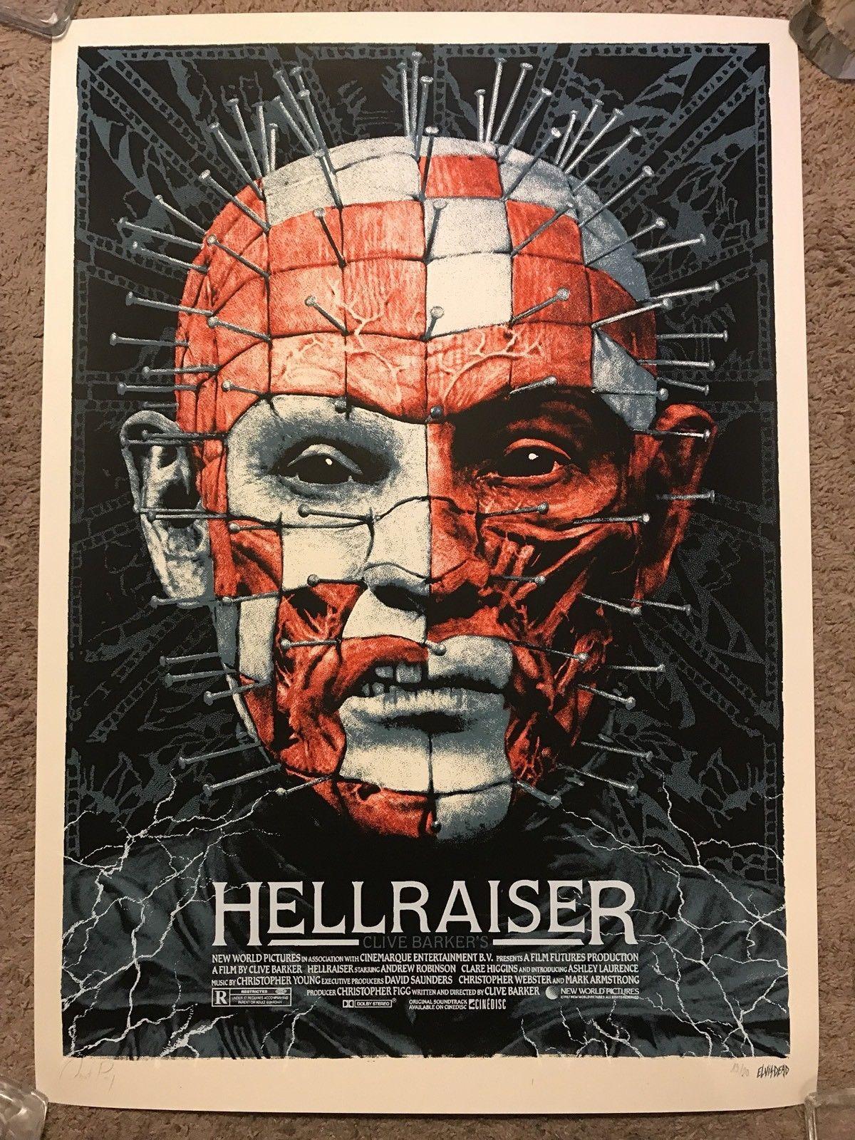 Clive barker hellraiser pinhead art print poster mondo