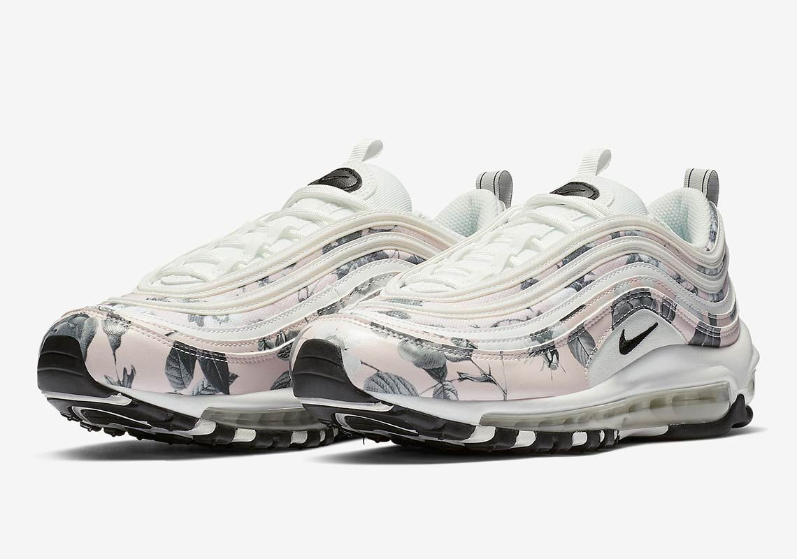 Nike Air Max 97 Women S Floral Pale Pink Release Date Sneakernews Com Nike Air Max 97 Nike Air Nike Air Max For Women