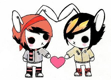 Emo Bunnies Emo Love Cartoon Emo Love Cartoon Pics