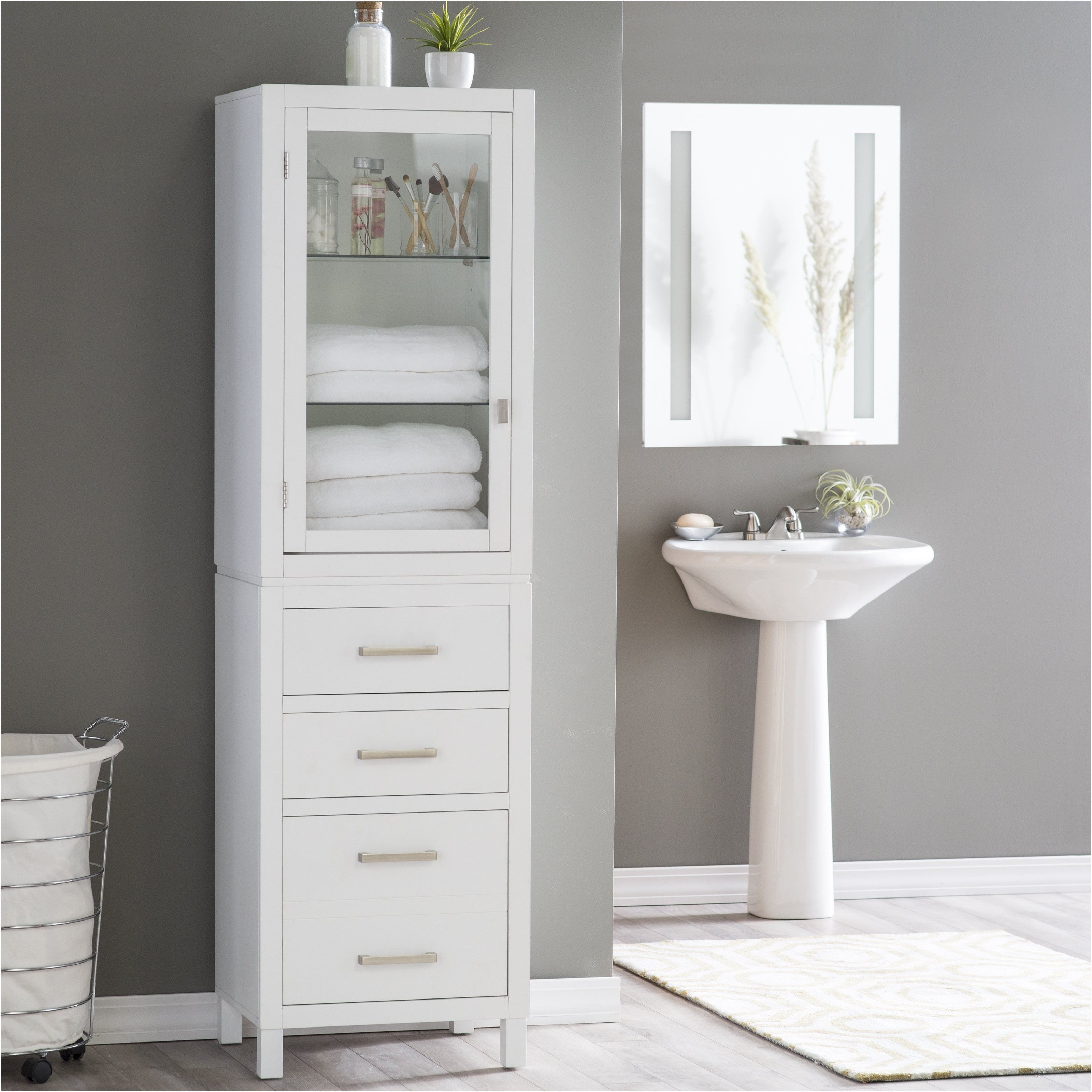 Bathroom Linen Cabinets On Hayneedle Storage Units From Cabinet Tower