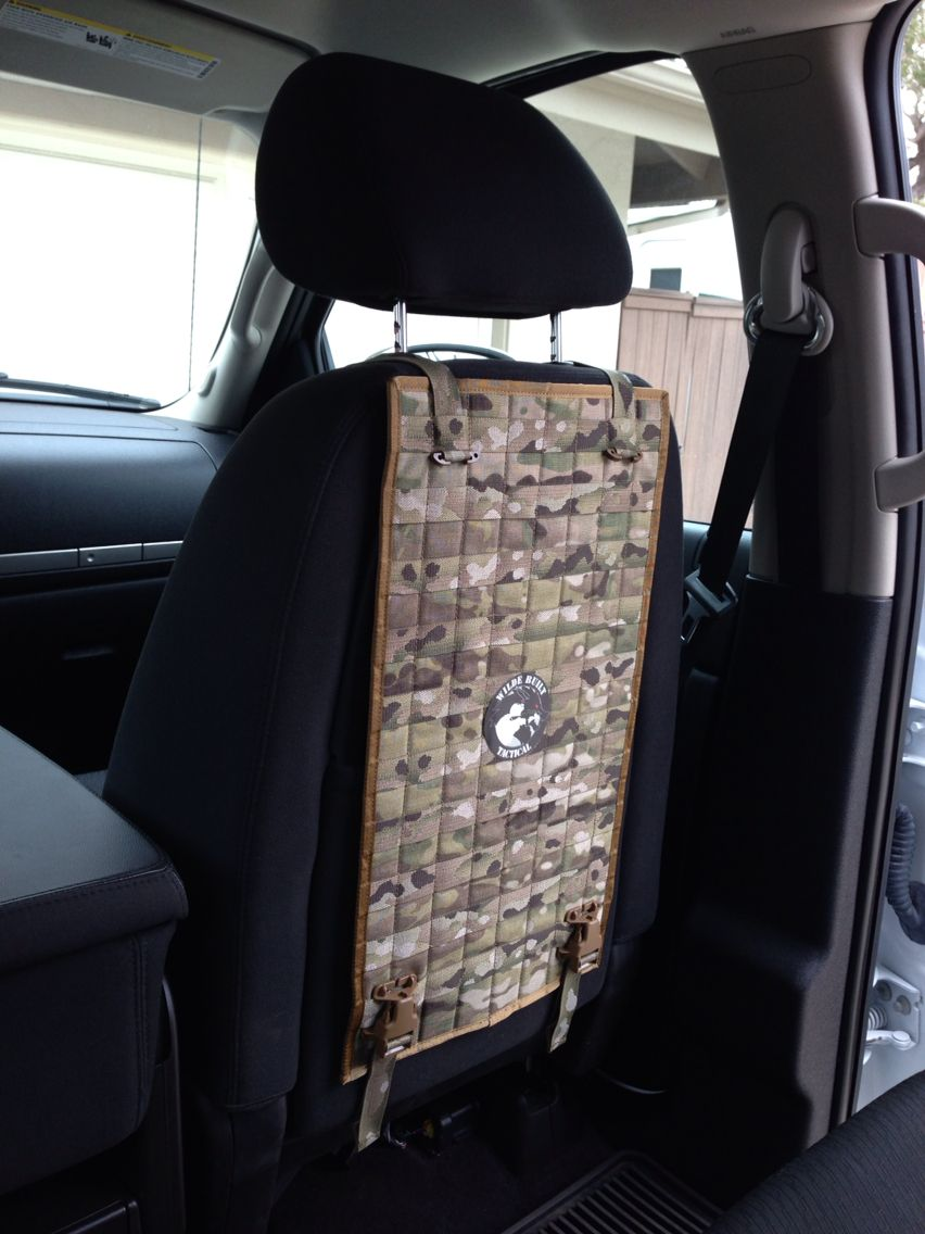 Molle Seat Back Organizer Tactical Vehicle Storage And