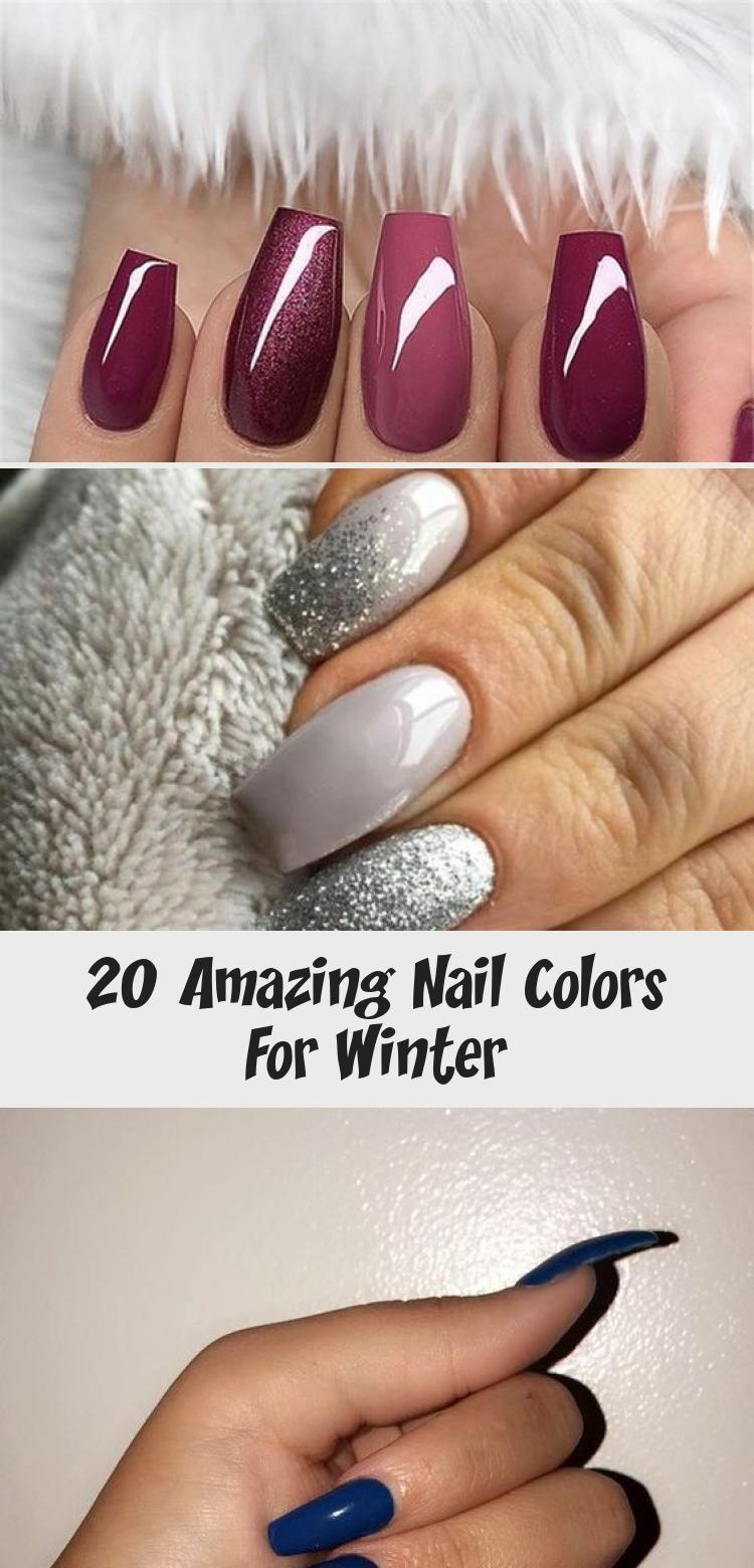 20 Amazing Nail Colors For Winter – Nail Art Desing