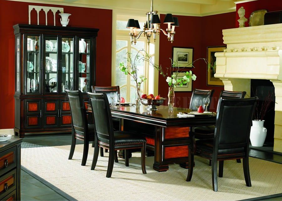Dining Room Formal Dining Room Sets With Black Leather Chairs Delectable Formal Dining Room Set Design Ideas
