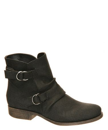 Take a look at this Black Tabby Ankle Boot by MADELiNE on #zulily today!